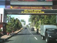 Gerbang kota Kuningan, Jawa Barat.