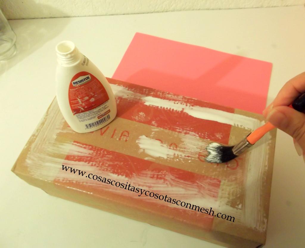 Como decorar una caja de zapatos cositasconmesh - Como decorar una ...