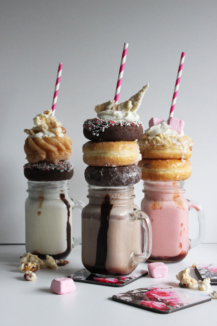 Happy Holiday Neopolitan Extreme Milkshakes!
