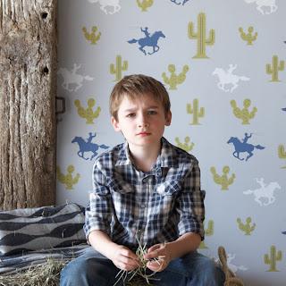 Hibou Home - Cactus Cowboy Wallpaper
