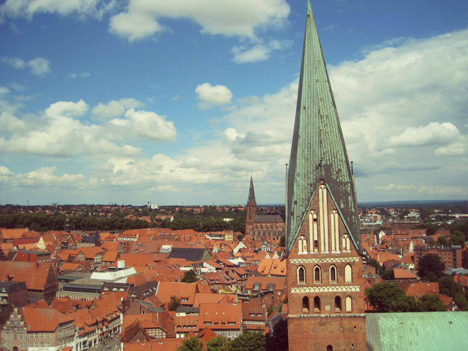 View from the old Lüneburg water tower