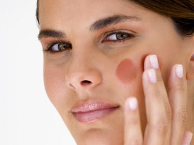 truque maquiagem bronzear rosto