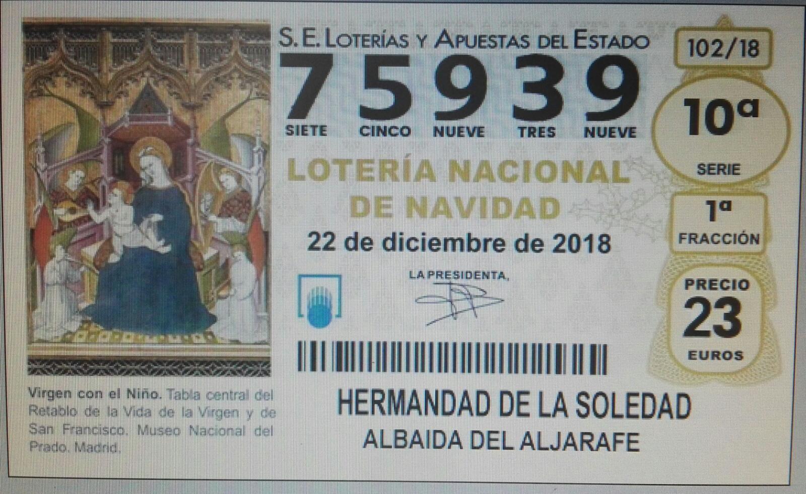 LOTERIA DE NAVIDAD <br>