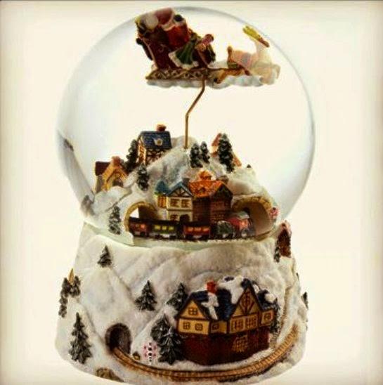 C mulos y limbos navidades blancas dickens y hampton court - Bola nieve cristal ...