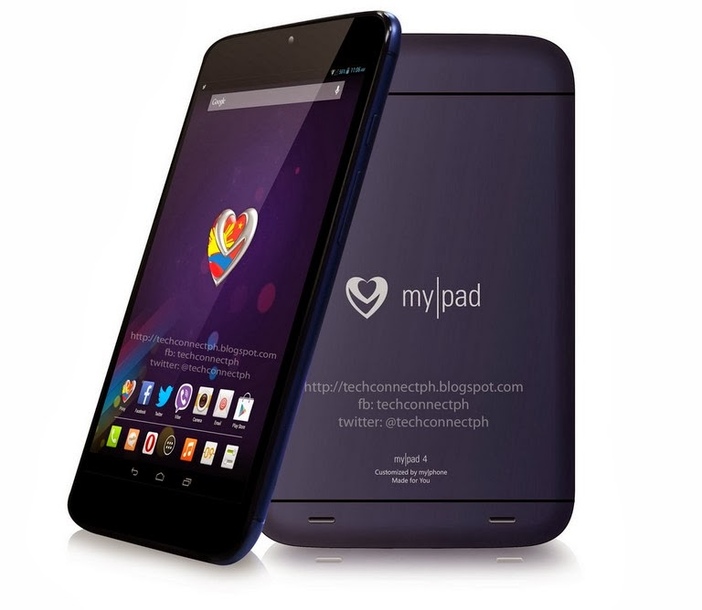 MyPhone Tierra MyPad 4: 7.85-inch Quad-core Processor for Php 9,988