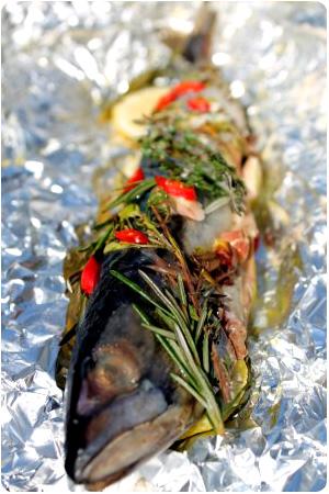 Makrele und Mangold vom Grill