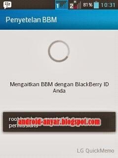 Foto Proses Mengaitkan BBM dengan BlackBerry ID