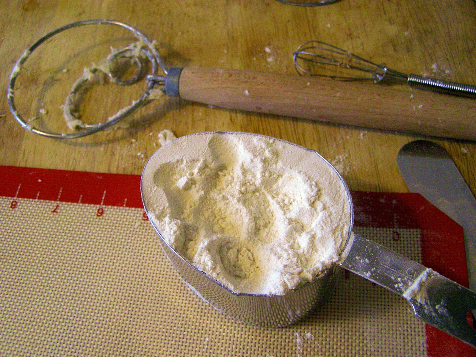 Flour after kneading