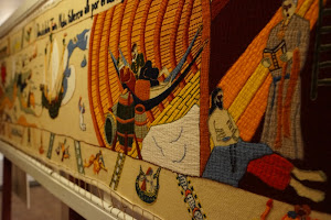 Beautiful tapestry done by women in Conche