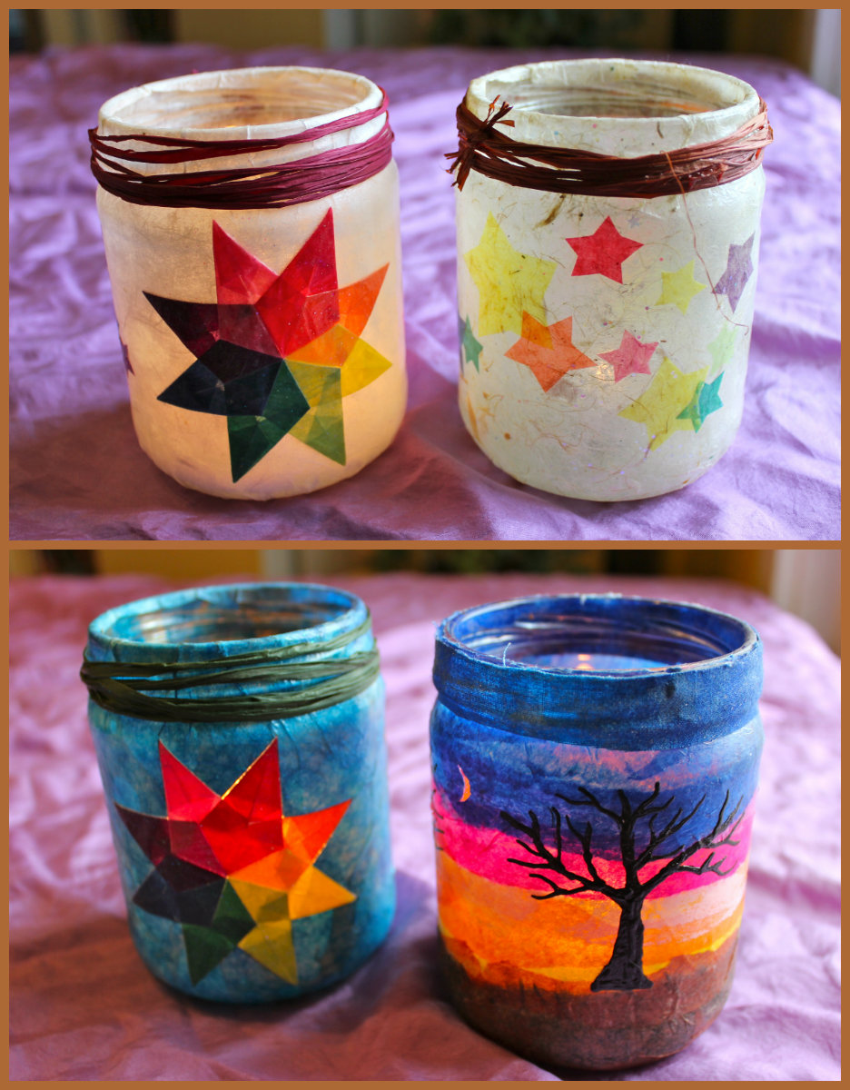 River bliss homemade holiday traditions part 2 the gift for Homemade lantern lights
