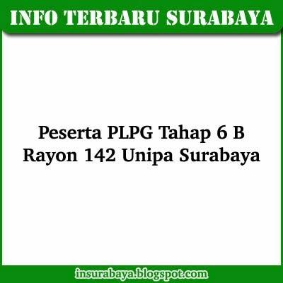 Daftar Nama Peserta PLPG 2013 Tahap 6 B Rayon 142 Unipa Surabaya