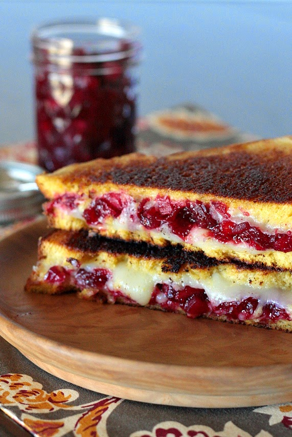 grilled cheese cranberry sauce