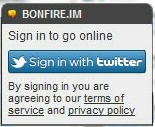 Bonfire IM Twitter Chat Client Login Screen