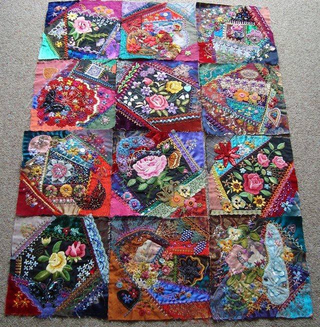 Crazy Quilt Pattern Images : Stitching Always: Crazy Quilt 2011. Jewel Tone