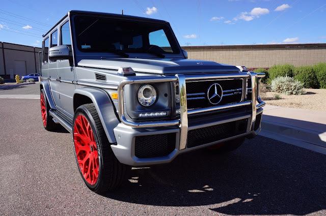 mercedes g63 red wheels