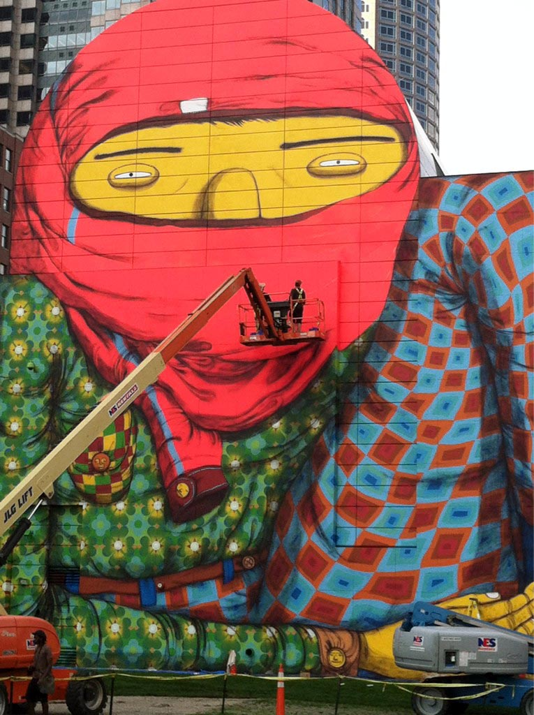 Os gemeos new mural in boston usa streetartnews for Boston dewey square mural