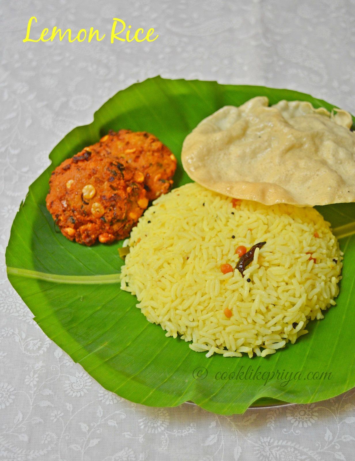 Lemon Rice | South Indian Lunch Box recipe