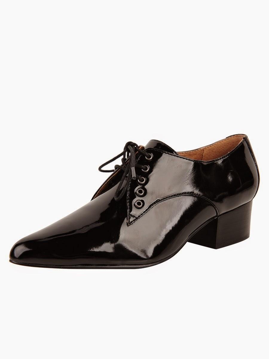 Black heel, lace-up shoe by Bettye Muller