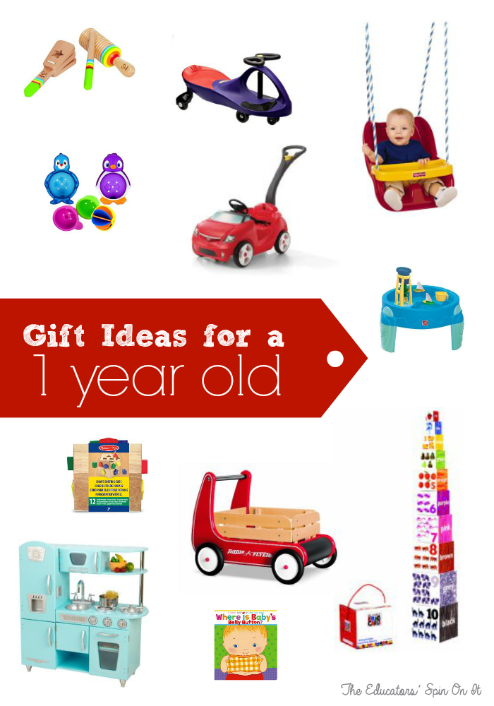 Gift Ideas for a One year Old from the Educators' Spin On It