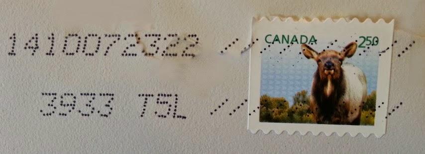 francobollo canadese dedicato al Wapiti