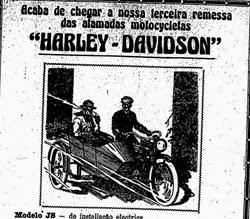 Clássica propaganda da Harley Davidson em 1919.