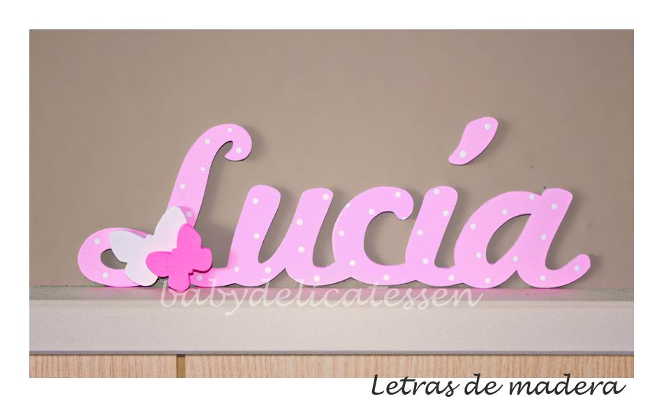 El nombre de lucia finest cuadro con el nombre de luca en - Letras en madera ...