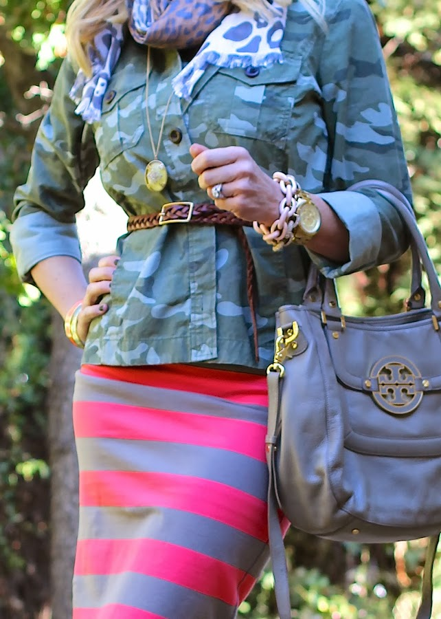 camo jacket belted