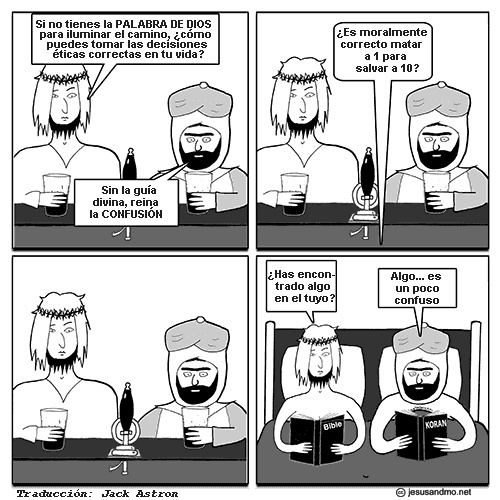 Jesus and Mo, sobre la moral