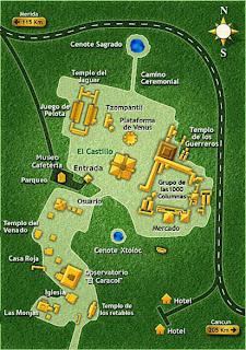 Chichen itza cultura maya mexico mapa