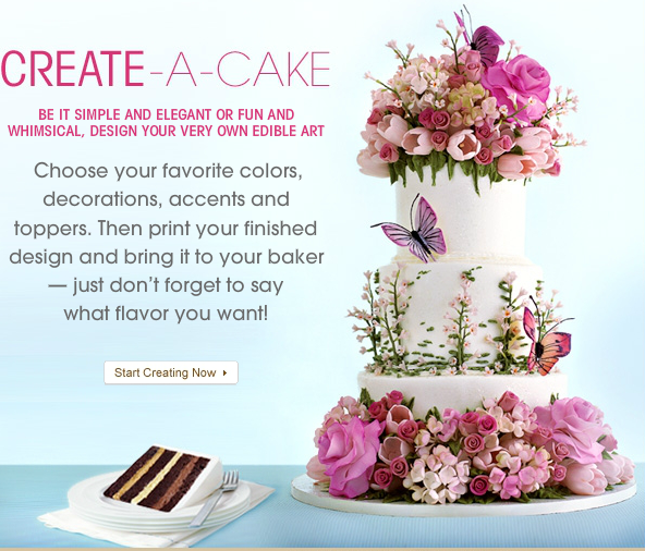 Design Your Own Photo Cake : Ontario Bakery: Fun tools to help you design your wedding cake