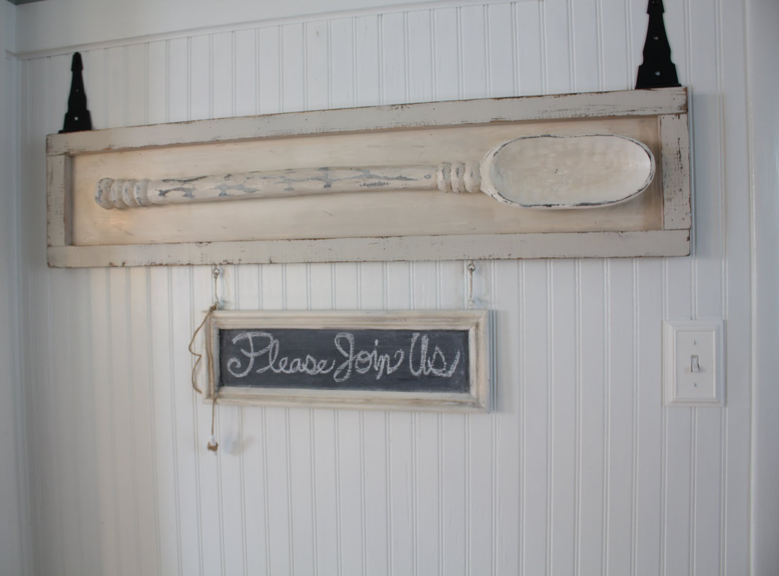 Worn Cotton Dining Room Sign