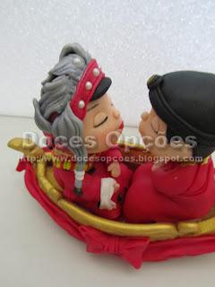 Topo bolo de casamento oriental