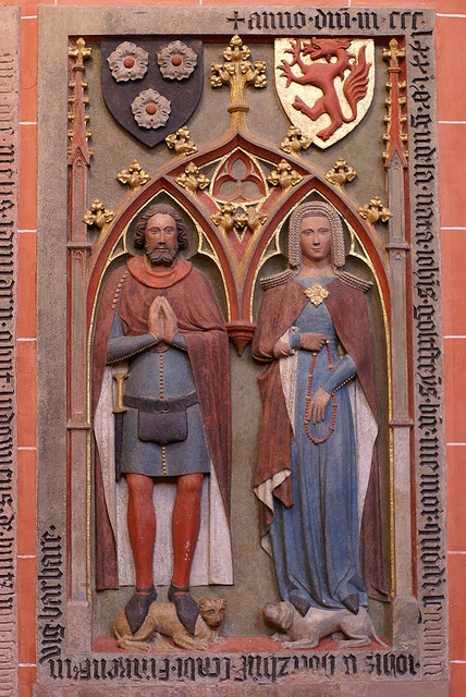 Sca german renaissance research grabmal von johann und gudula von holzhausen st bartholomews cathedral epitaph c 1370 fandeluxe Images