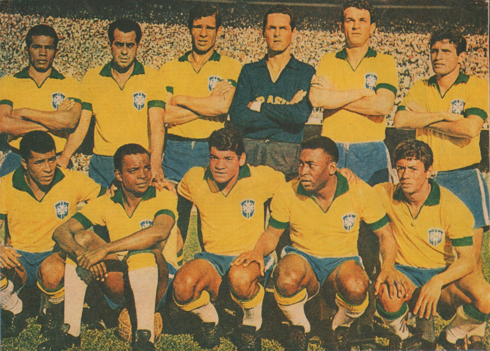 Photo From Magazine Source Unknown Contribution A Blog Viewer Brazil Squad June 15 1966 2 Czechoslovakia