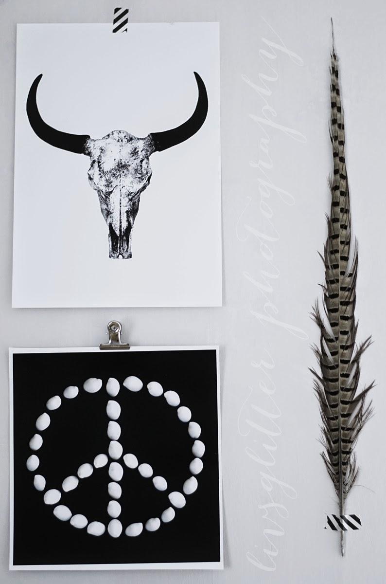 art prints, print, buffalo, kranium, peace print, grafiska tavlor, interiör