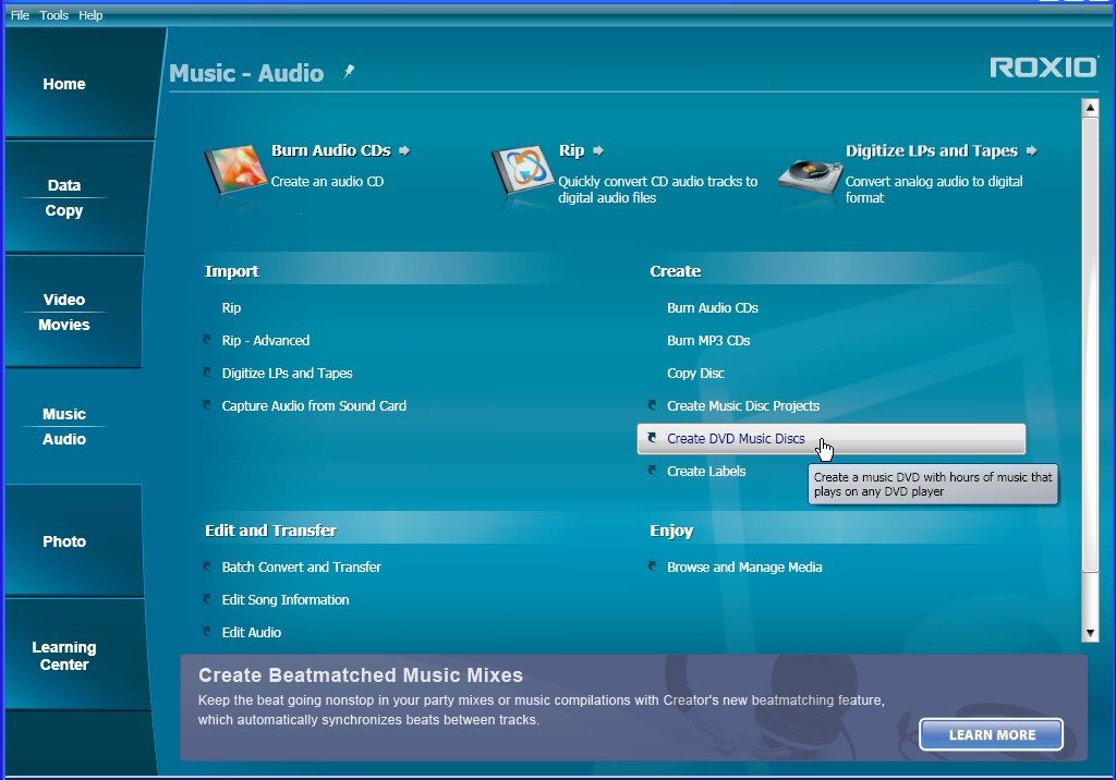 Roxio creator 2012 cd dvd burner software free for Create software online