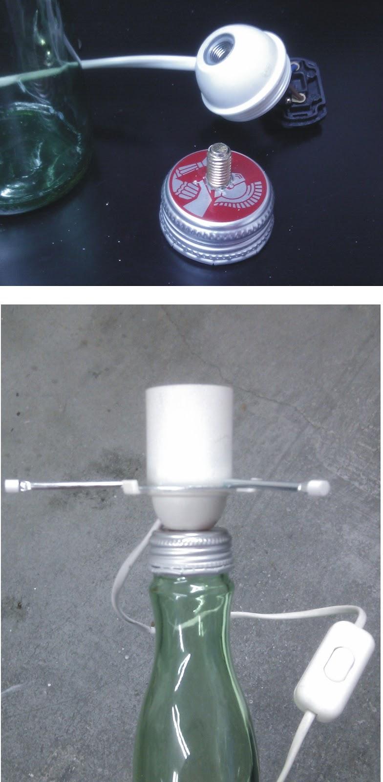 Il baule delle idee: Da una bottiglia a una lampada!
