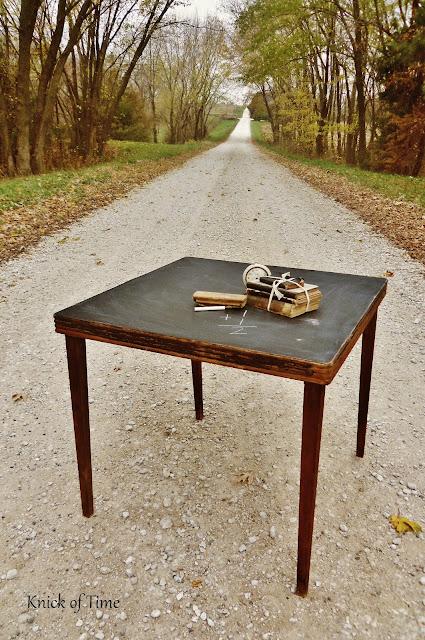 Chalkboard Folding Table via Knick of Time