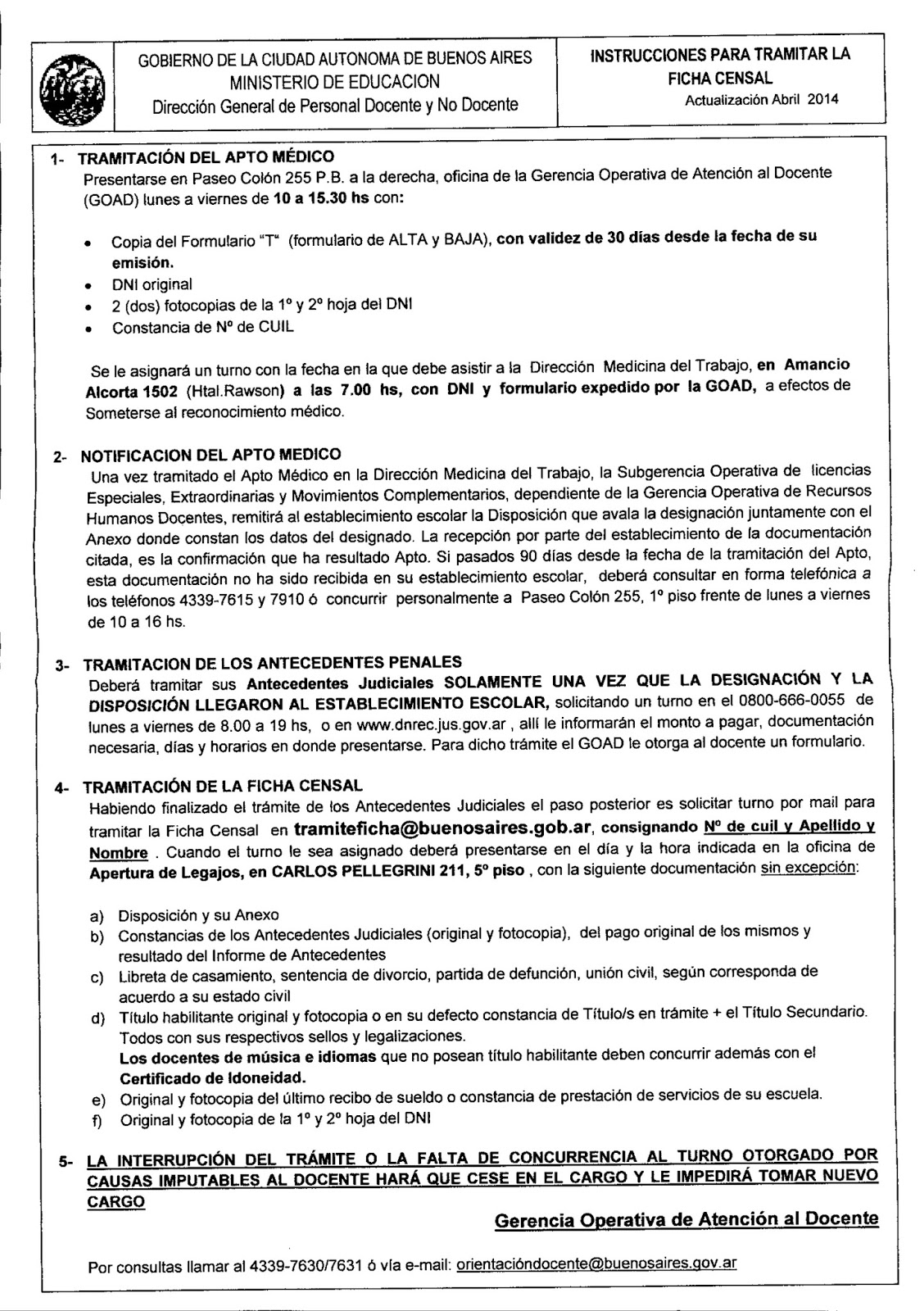Instrucciones para tramitar la Ficha Censal