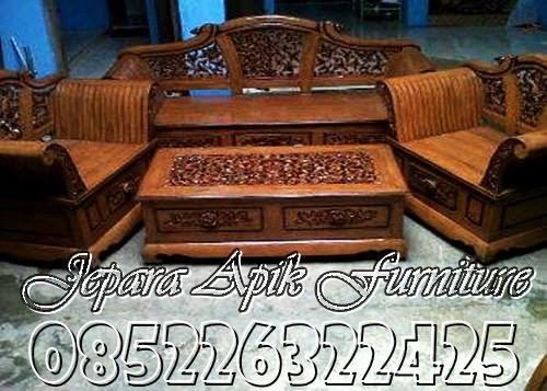 kursi tamu dari kayu jati