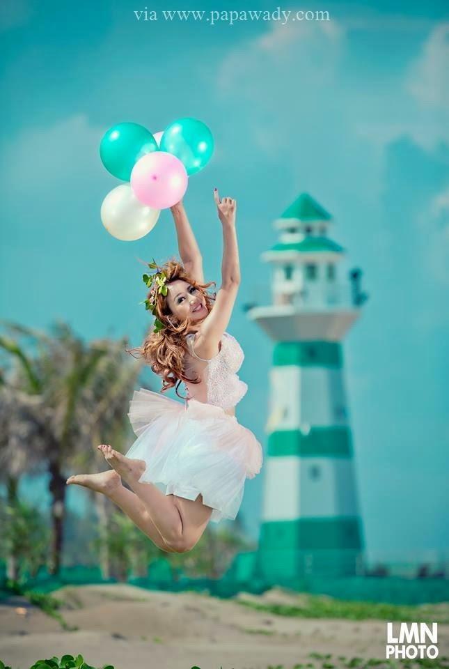 Nang Thiri Mg - Colorful Pretty Girl At Beach