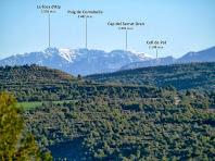 Vistes de la Tosa d'Alp des de la Costa de la Frau