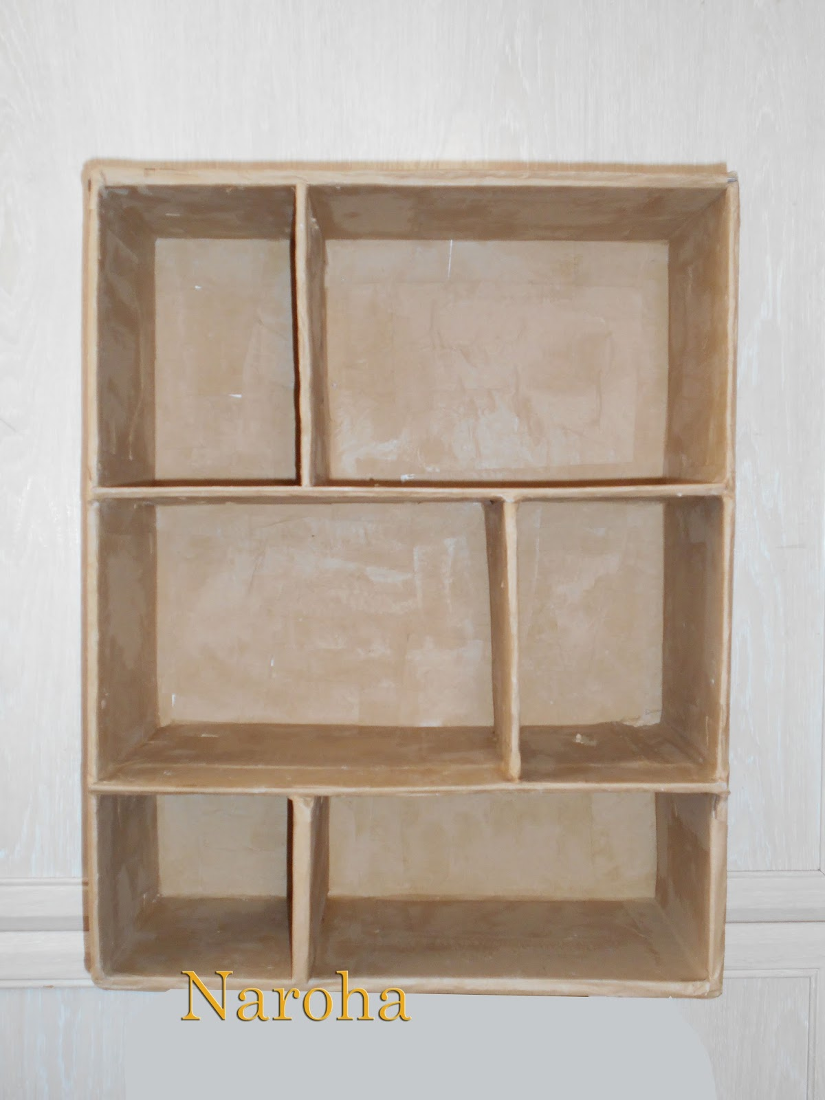 Naroha c mo hacer un mueble de cart n con cajones for Manual para armar un mueble