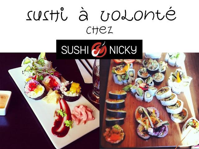 Sushis à volonté Sushi Nicky Québec