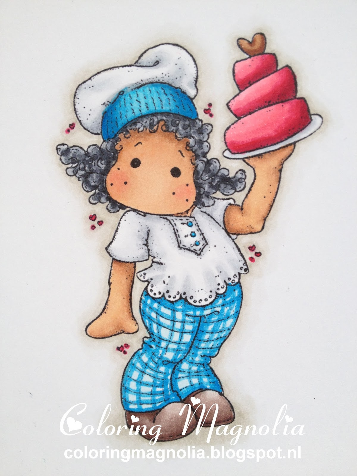 Coloring Magnolia Stamp 2013 With Love Collection - Tilda With Love Cake