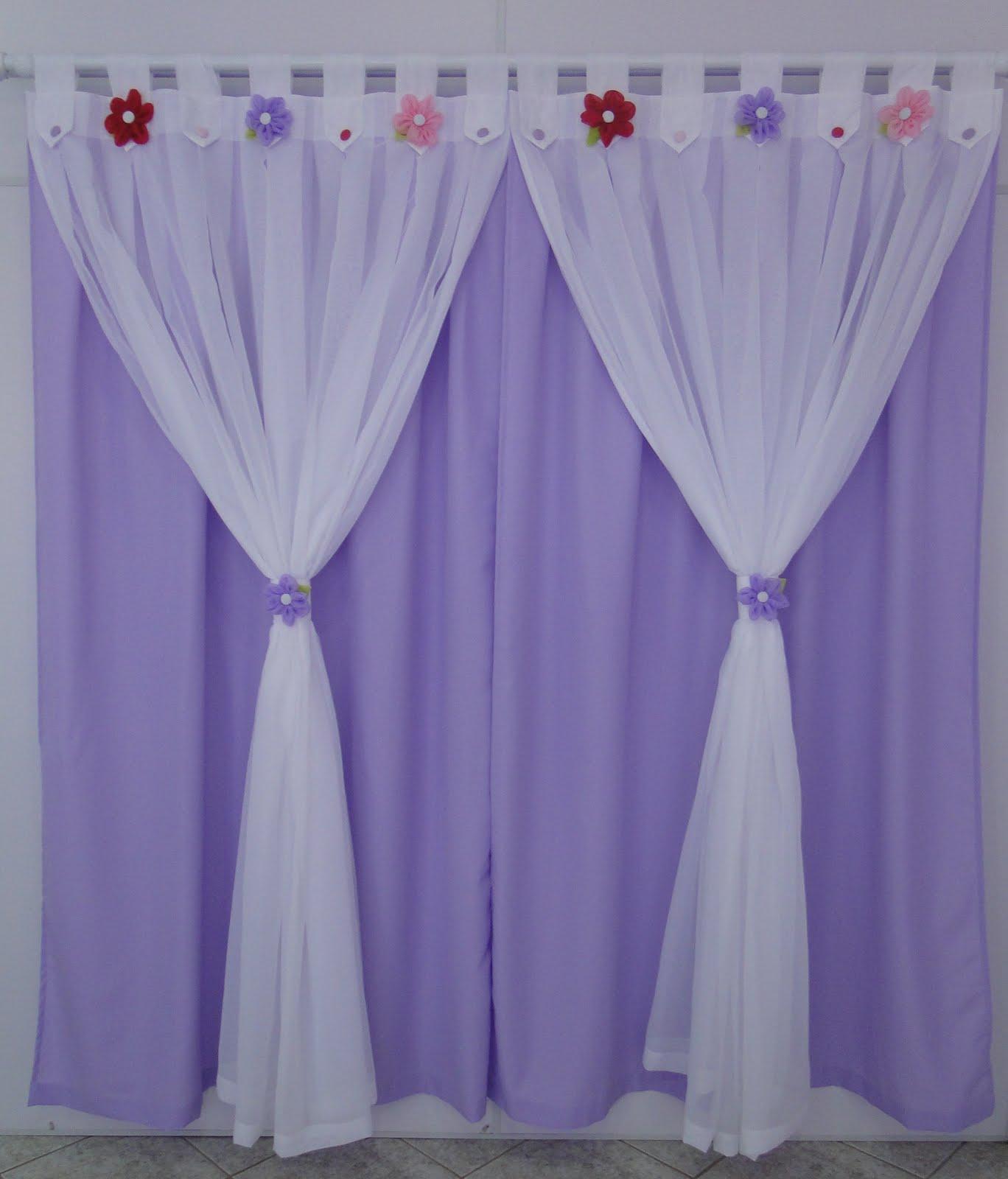 Cortinas Lilas ~ Flor d' liza Cortina infantil flor de liz meninas