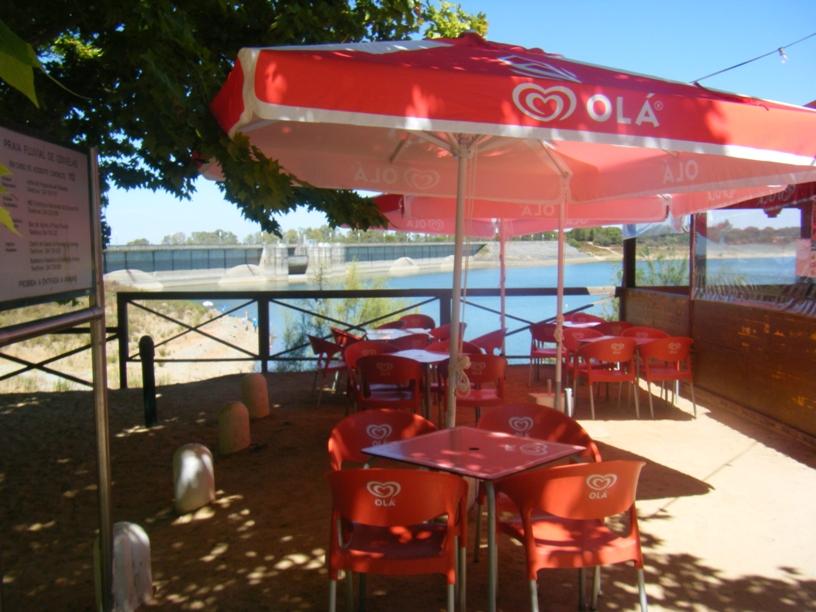 Uma das Esplanadas do Bar da Praia Fluvial Odivelas