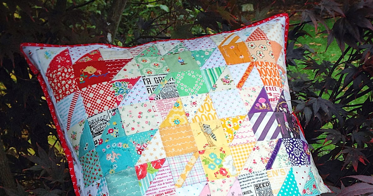 lovely little handmades: a scrappy modern maples pillow