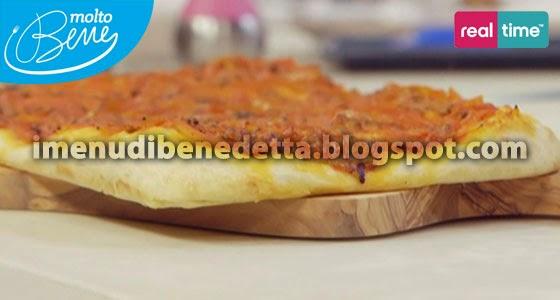 Pizza-Focaccia alla Marinara con Vongole di Benedetta Parodi