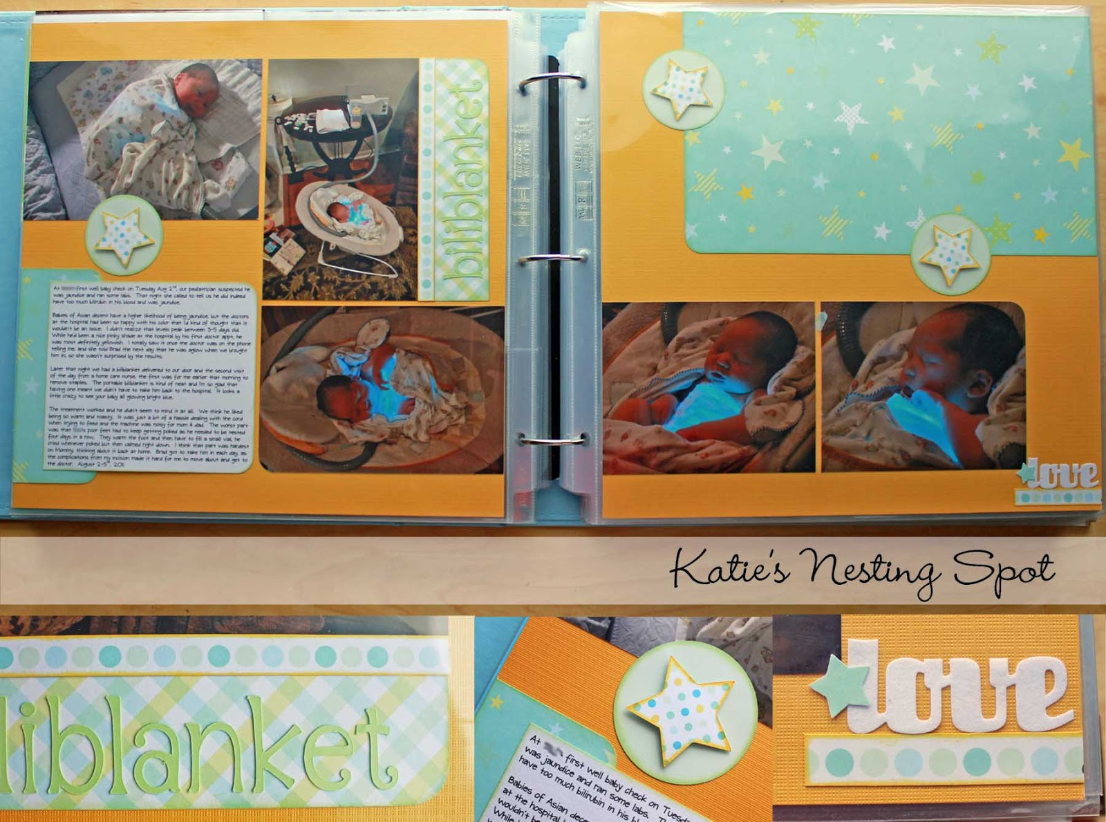 Scrapbook ideas for baby boy